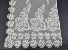 Cream lace stole, 1820-1830, decorated panel to ei