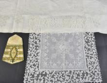 A group of ecclesiastical embroidered items to inc