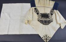 Queen Anne period quilted  fragment,  quilting in