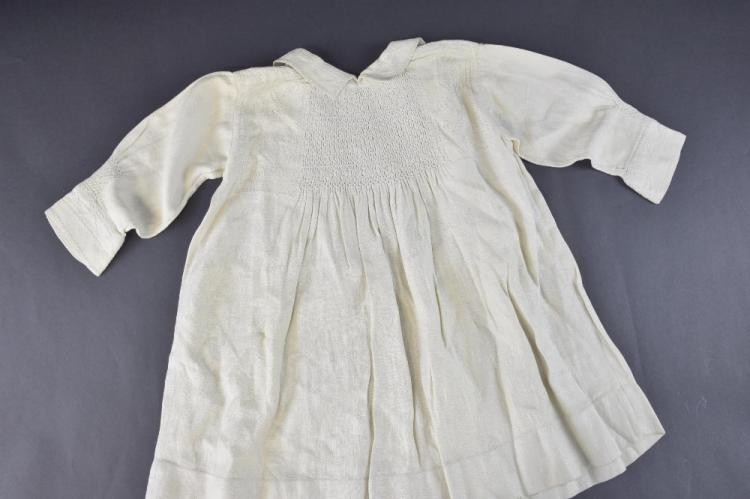 Childs country smock, Britain 19th C , patterned s