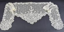 Honiton lace veil /Bertha, design with series of f