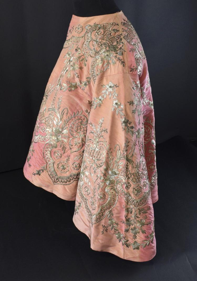 A pink silk jacket formerly the property of Queen
