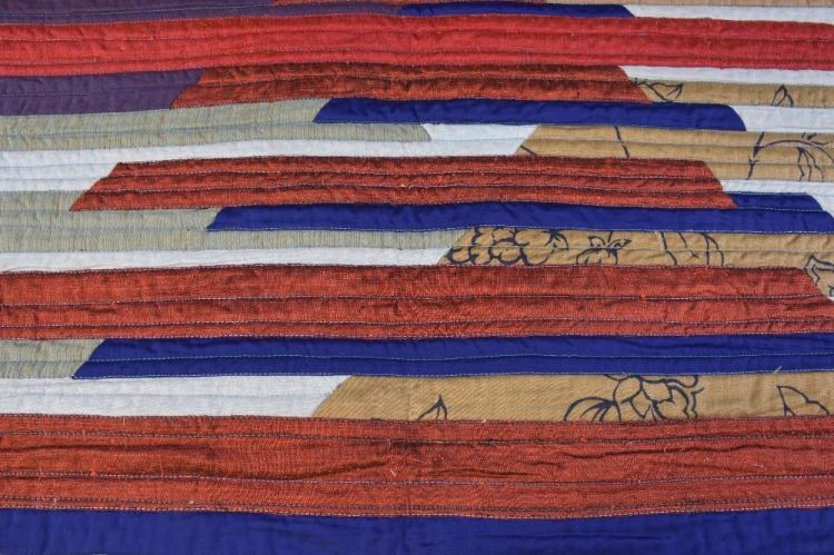 Mary Fogg textile artist, a cotton bed cover or ha
