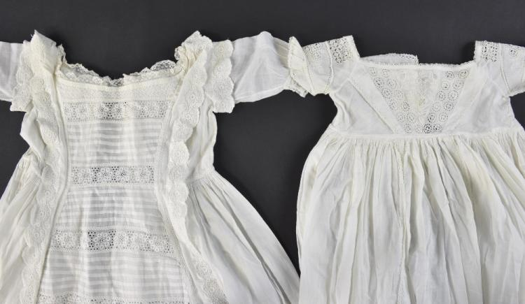 Two Christening gowns, an Ayrshire work gown, embr