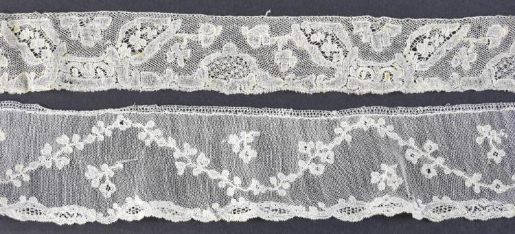 Two lace edging lengths, 18th C France, Mechlin 3