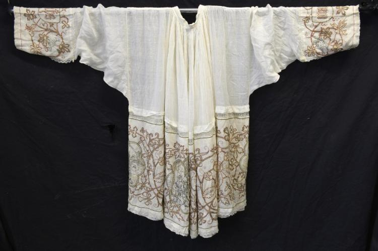 A fine priest Surplice, robe of fine cotton lined