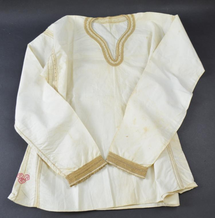Russian boys shirt, with finely embroidered collar
