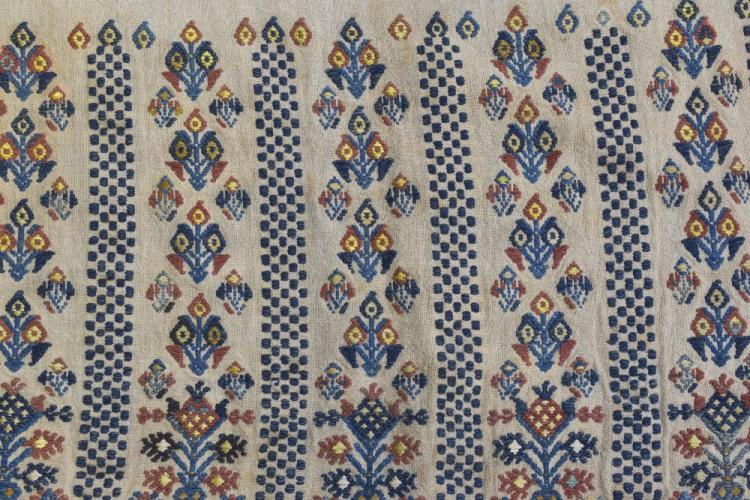 Embroidered border Balkans, early 20th C, and an e