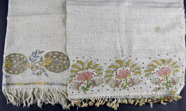 Two Ottoman period  towels from Greek Islands Mity