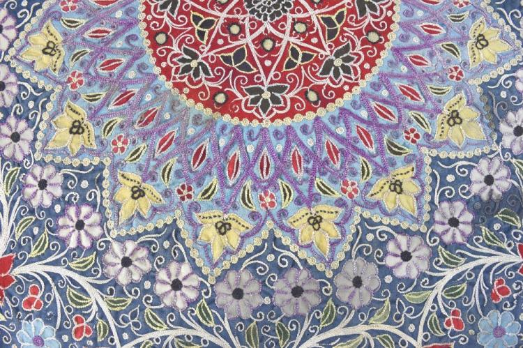 Embroidered  robe fronts, Pakistan, Swat valley, a