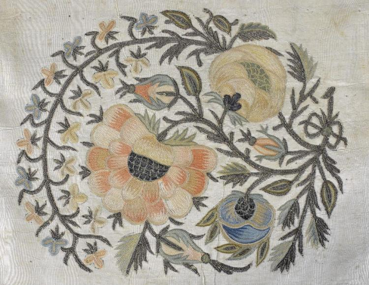Ottoman 18th C panels from a larger cloth, finely