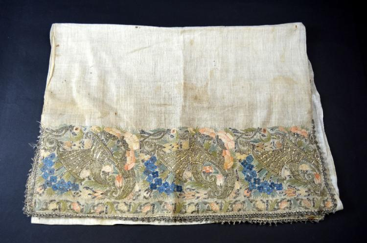 18th C Ottoman, a fine sash , the ends with deep b