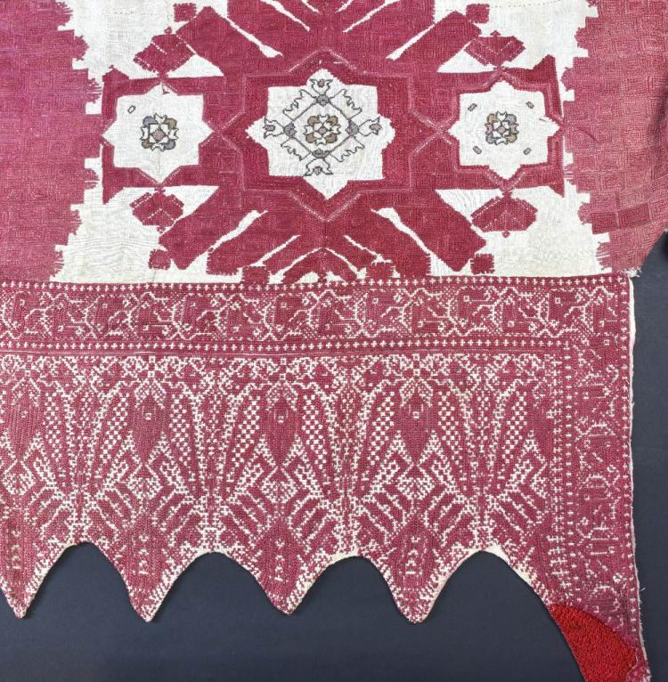 A group of  19th C Moroccan embroideries including