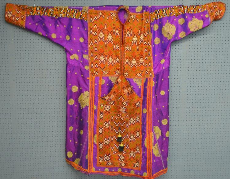 Baluchistan Pushk Kurta Brahui tribe, purple silk