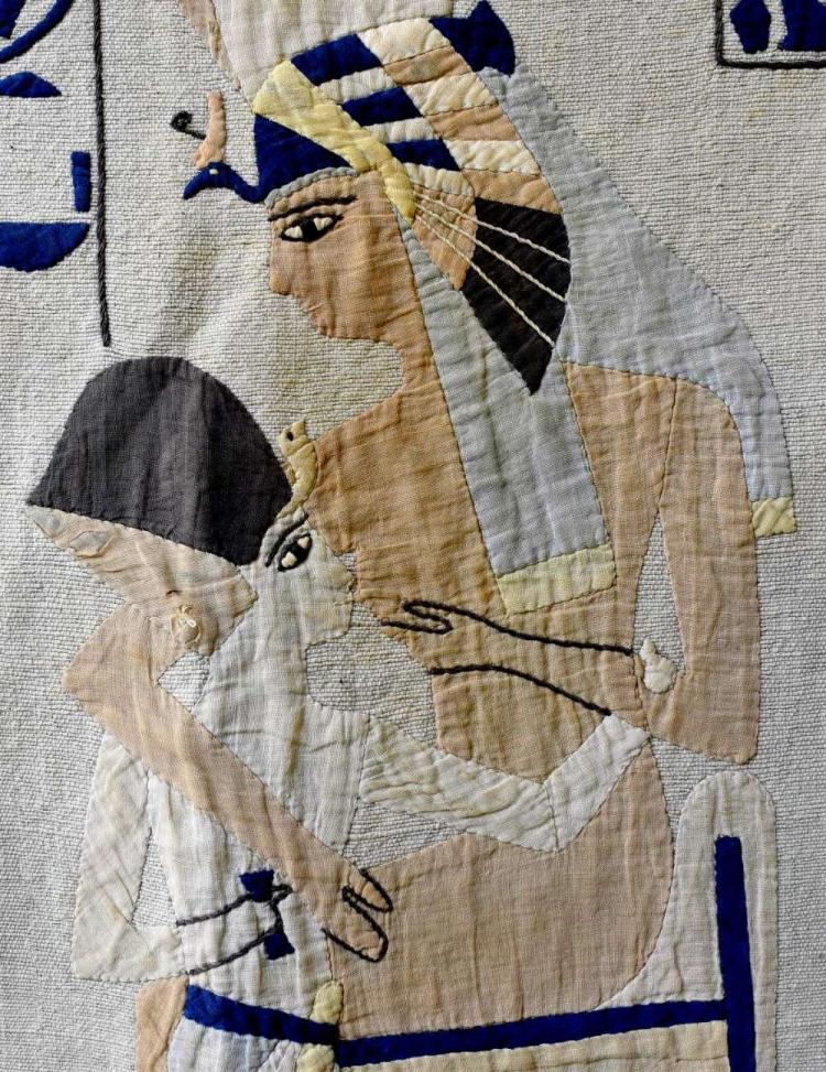 An unusual Egyptian hanging with appliquéd design