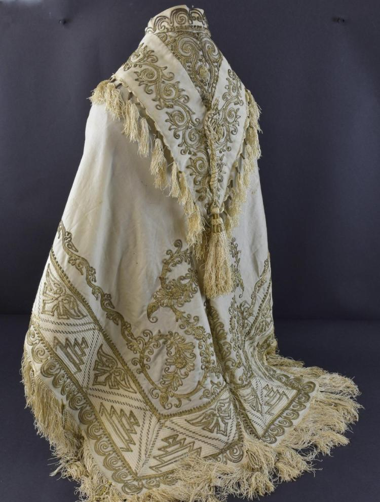 Mid 19th Century Turkish silk cape with intricate