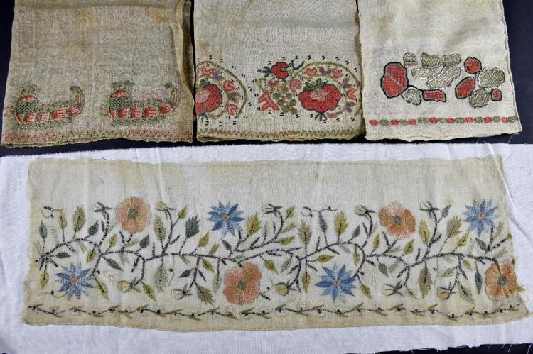 Ottoman towel end with decoration of continuous st