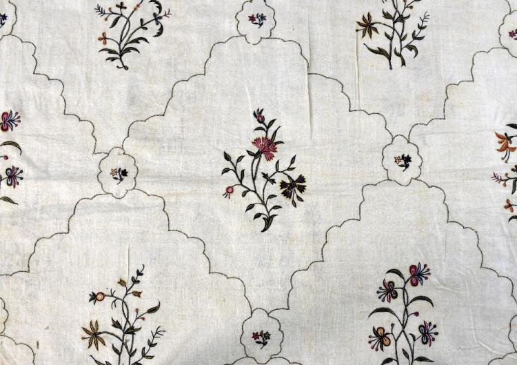 Indian for the European market,  embroidered dress