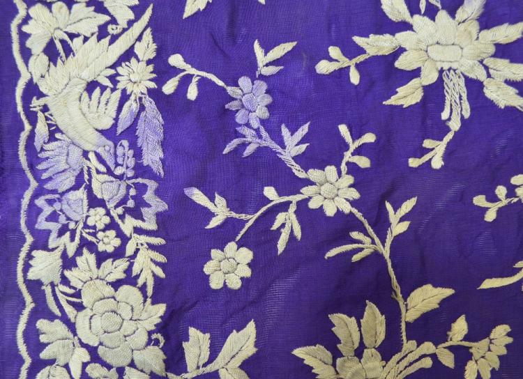 Indian Parsee gara sari, extensively  hand embroi