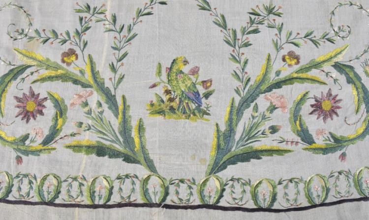 18th C skirt border possibly indo Portuguese, wor