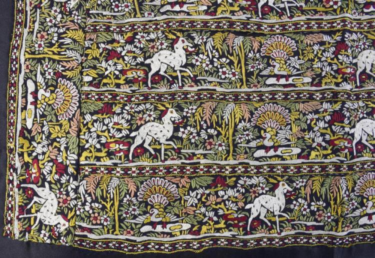 Chinese embroidery made for the Indian market, 19t