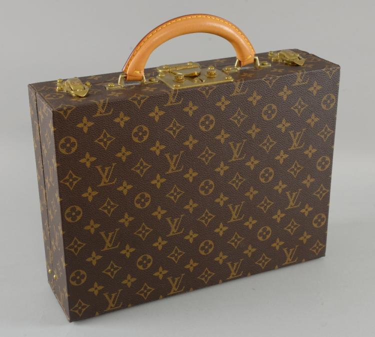 Leather jewellery case by Louis Vuitton, the monog