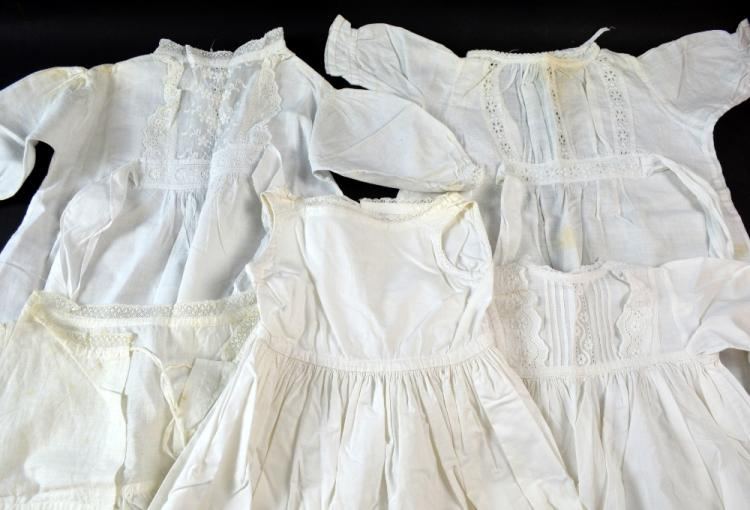 Mid Victorian Christening gown with extensive cutw