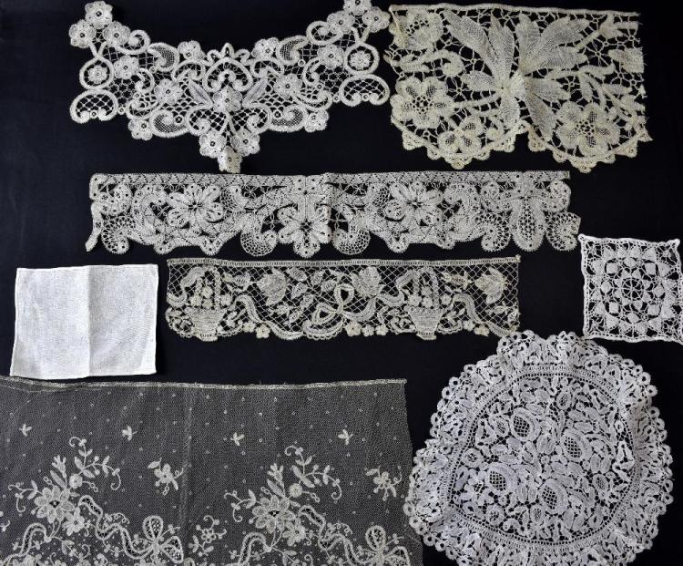 18th- 19th C Italian lace, including  Milanese lac