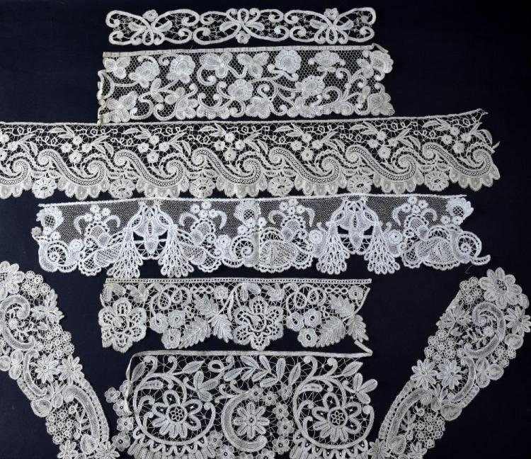Collection of 18th - 19th C bobbin lace including