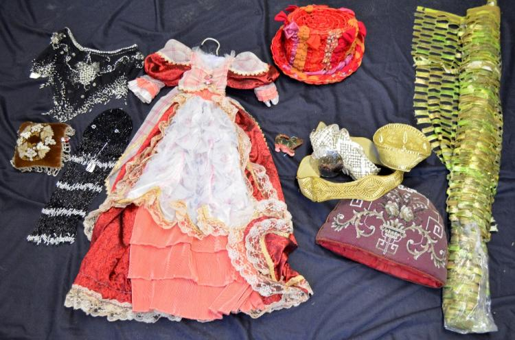 Mixed group of items to include Victorian beadwork