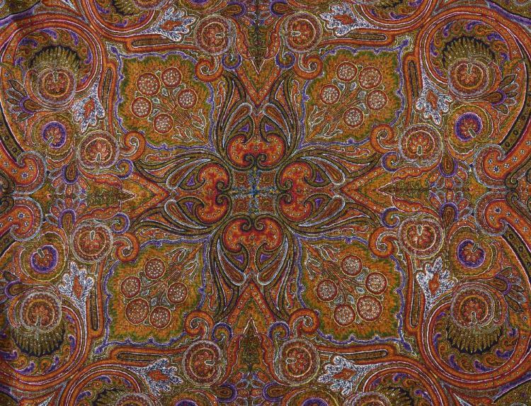 Victorian paisley shawl, 175cm x 175cm,