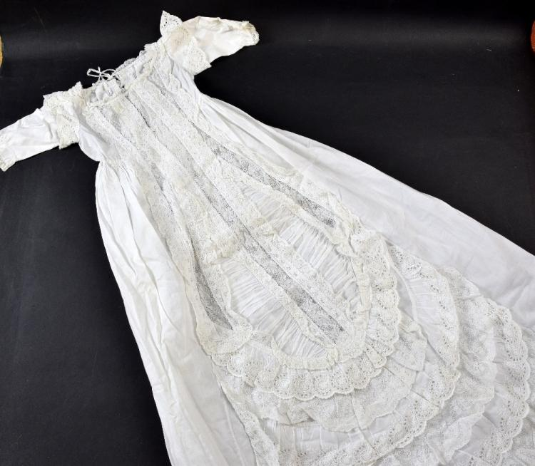 A Fine Victorian christening gown, with insertions