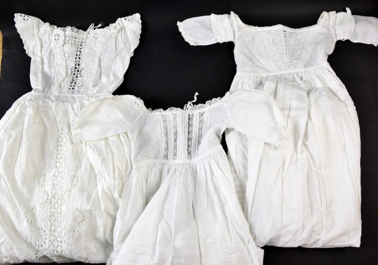 An extensively decorated christening gown  with fo