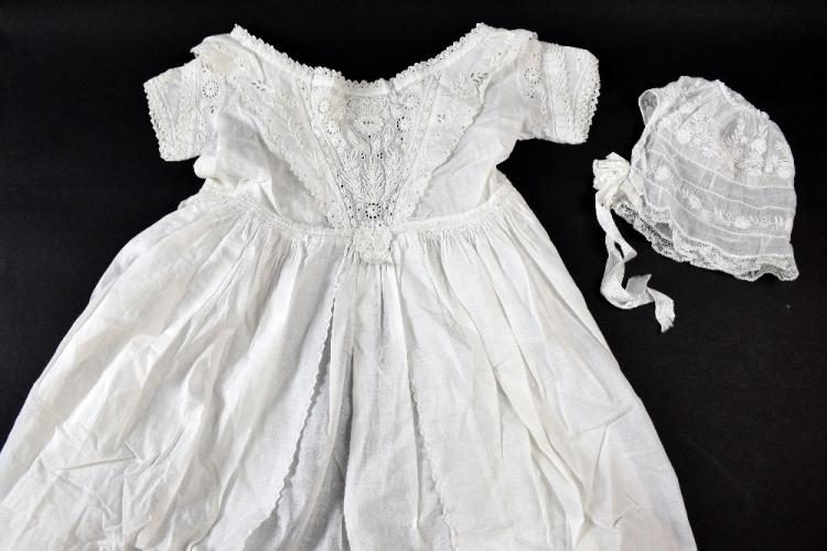 A Fine Victorian Ayrshire work christening gown wi