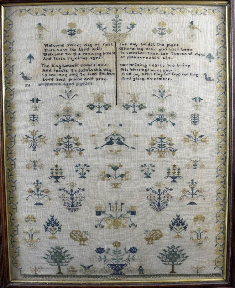 Two early 19th C alphabet and verse samplers, a s