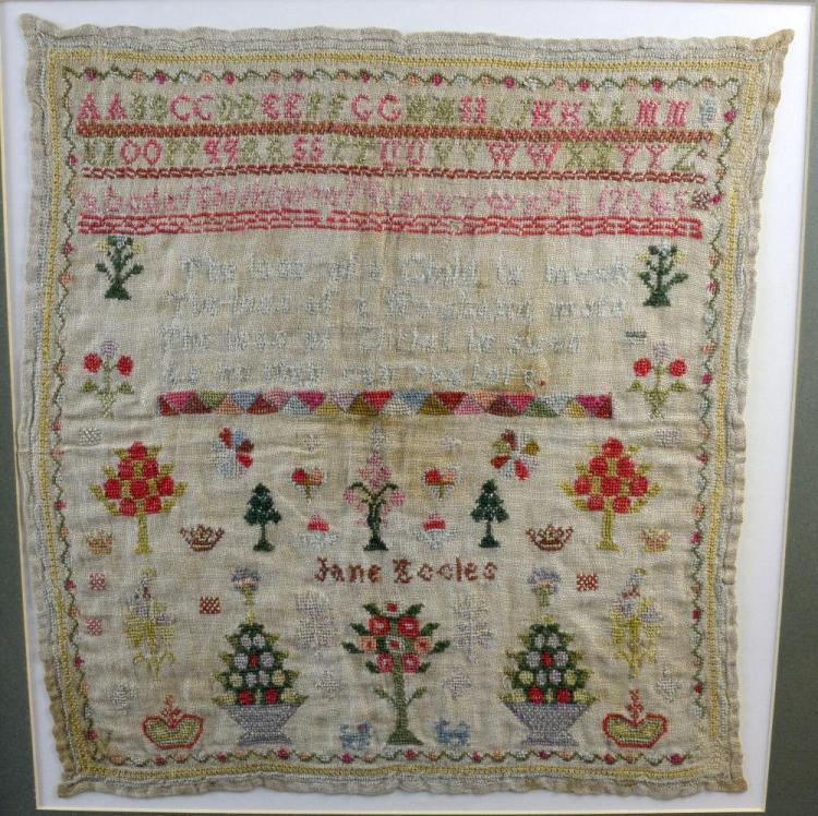 Two early 19th C samplers, one by Mira Codd dated