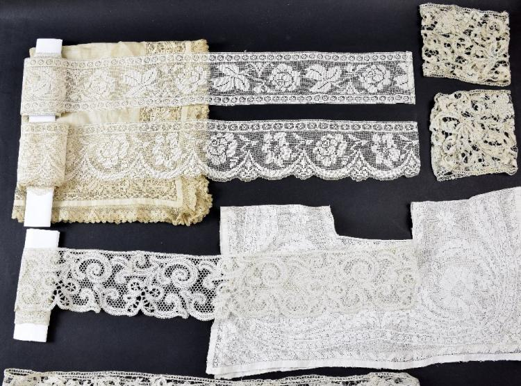 Group of mainly Italian lace, late 18th to 19th ce