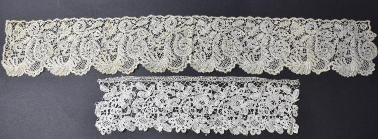 Honiton lace, pendant collars and edging, and othe