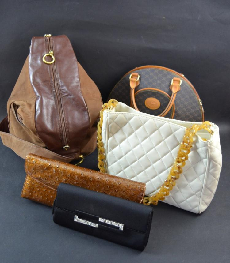 Collection of handbags and evening bags; two Russe