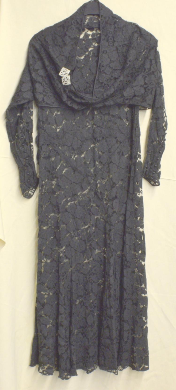 1930's lace dress and jacket, another similar long