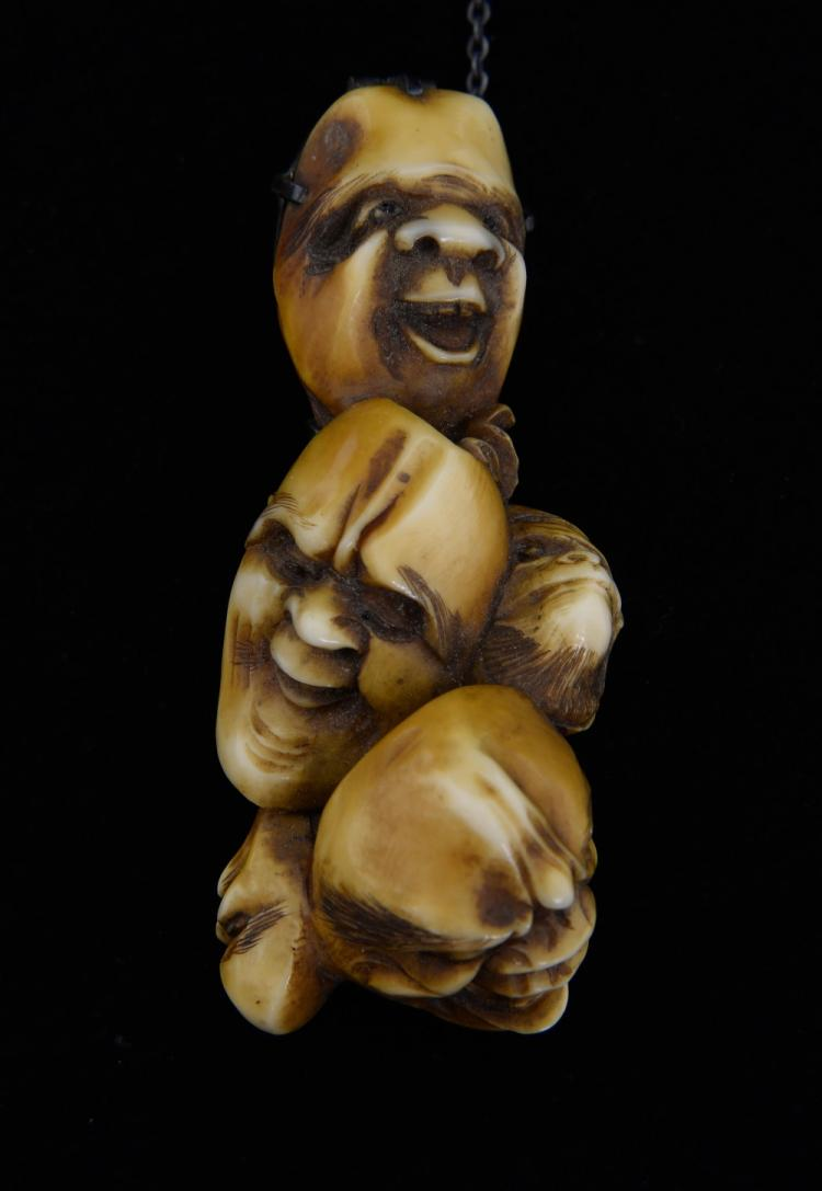 Late 19th/early 20th century Japanese ivory netsuk