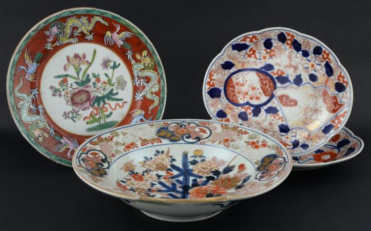 Japanese Imari shaving bowl decorated with flowers
