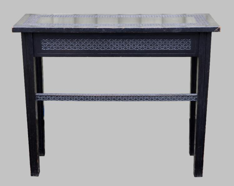 Early 20th century Indian ebonised side table, 75c