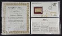 Historical buildings of Hong Kong 22K gold stamp set, 5521/8000, in presentation box,