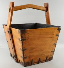Wooden carrying box 50cm high