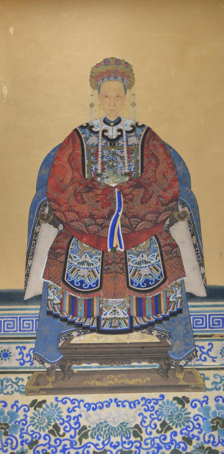 Chinese ancestral portrait, 86cm x 51cm,