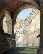 Karoly Andor (Hungarian,1901-2000), continental, church through archway