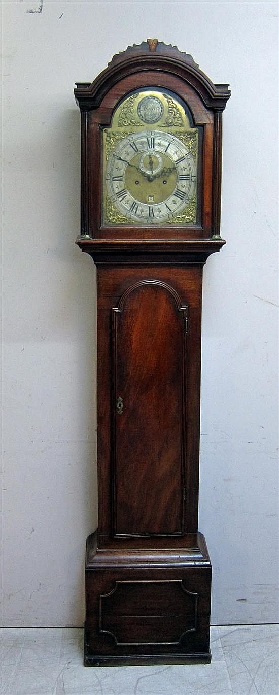 18th century mahogany eight day longcase clock by John Buffett of Colchester,