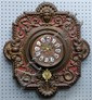Early twentieth century French painted wall clock in the rococo manner single train movement