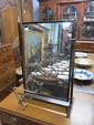 Late 19th century mahogany framed bedroom mirror with bone finials